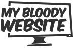My Bloody Website Podcast Logo