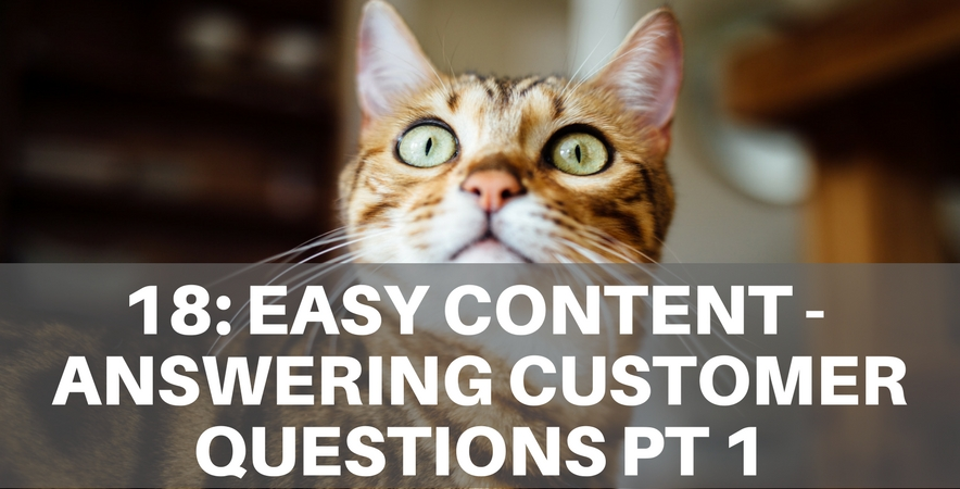 18: Easy Content – Answering Customer Questions Part 1